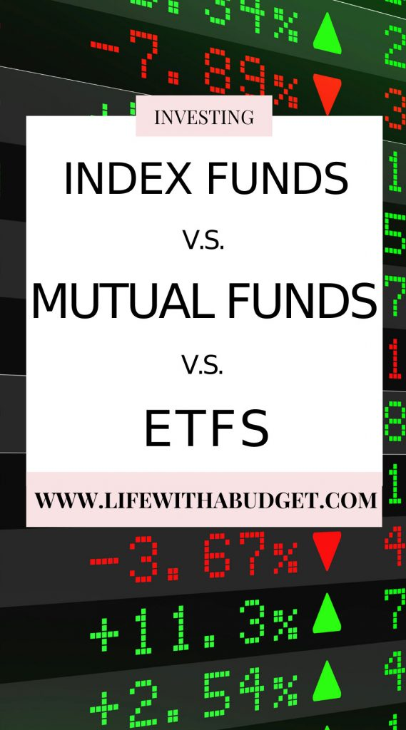 index funds mutual funds and etfs