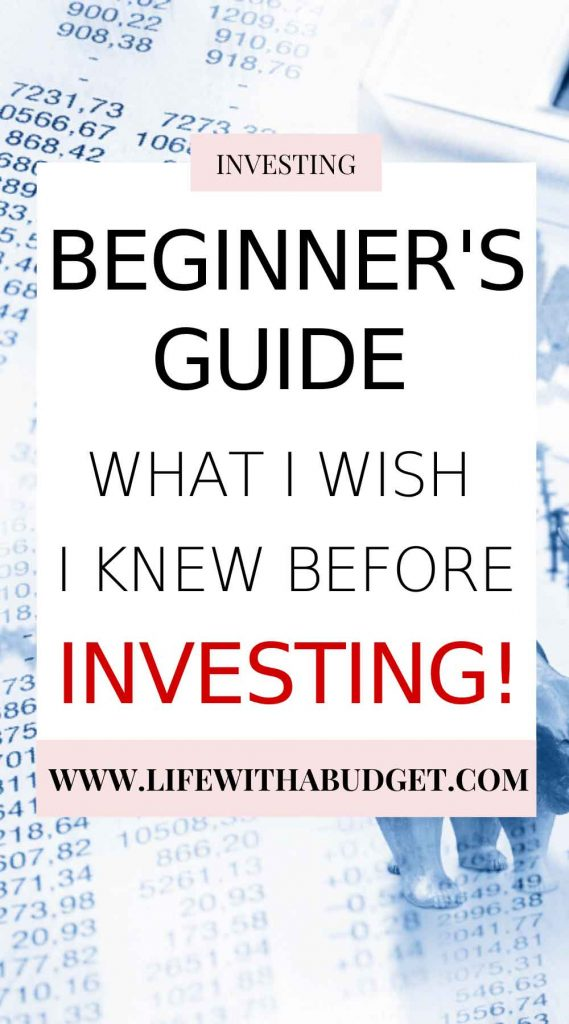 what i wish i knew before investing