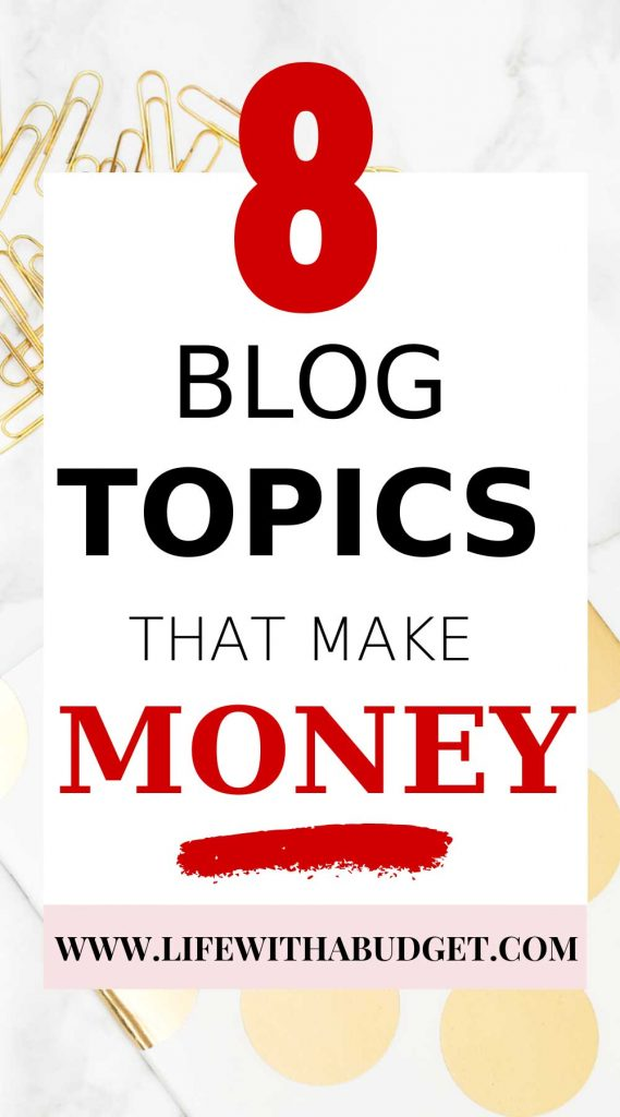 Blog topics that are profitable
