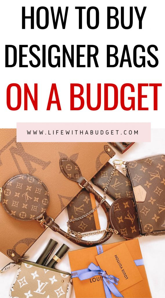 how to buy designer bags on a budget