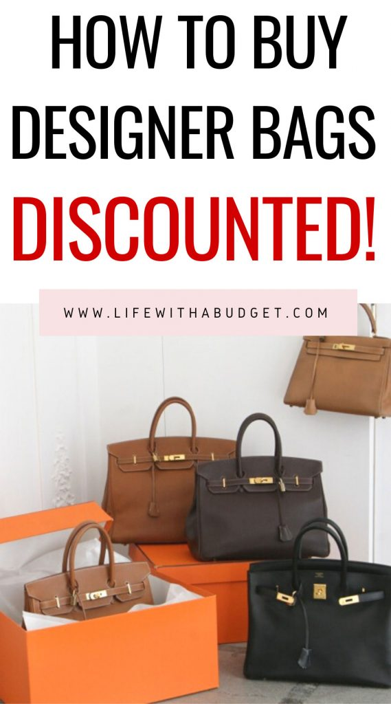 buying a designer bag at a discount