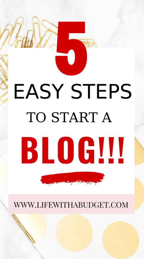 easy steps to start a blog